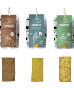 720 gr di Crackers con grani antichi siciliani