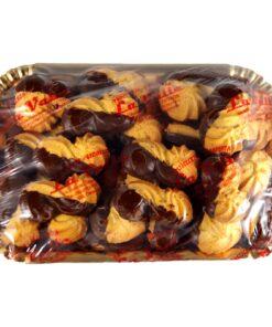 Biscotti di pasta frolla glassati al cioccolato biscotti California 500 gr