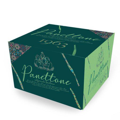 Panettone artigianale al pistacchio lievito madre e crema pistacchio 1 Kg