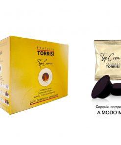 100 Capsule compatibili Lavazza A Modo Mio Caffè Torrisi Top Crema