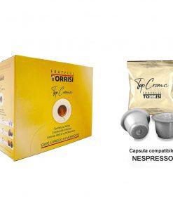 100 Capsule compatibili Nespresso Caffè Torrisi Top Crema